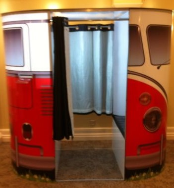 VW camper van in red Photo Booth Hire Hampshire