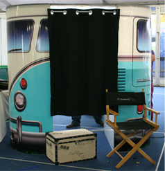 vw camper van photo booth
