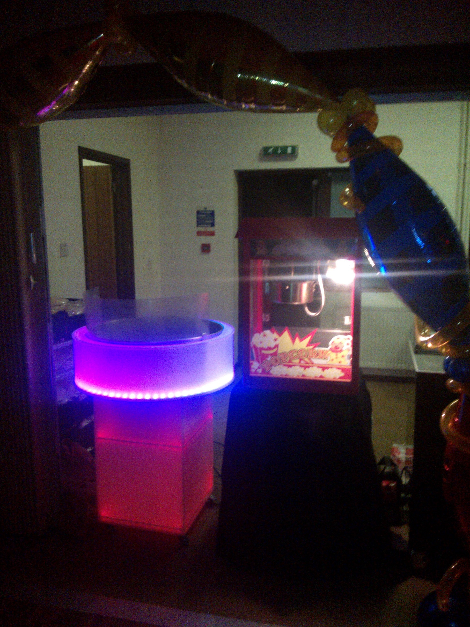 LED Candy floss Hire Hampshire
